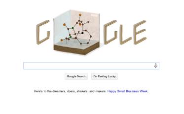 Dorothy Hodgkin's 104th birthday Google Doodle