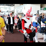 """Author of """"Professor Astro Cat's Frontiers in Space"""" Dominic Walliman sees a parade of cosplay characters at New York Comic Con."""