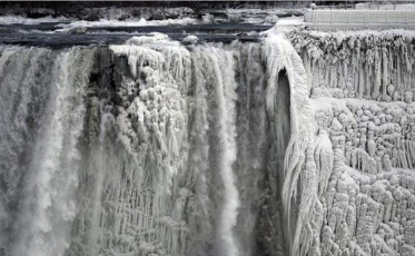 Photos of a frozen Niagara Falls appeared ahead of schedule last week, but even when life imitated art and the falls actually froze, it wasn't surprising to locals. Partial freezes of Niagara Falls are common in winter, where the average temperature in January hovers between 16 and 32 degrees. Credit: Reuters