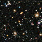 Hubble Ultra Deep Field 2014. A deep image of the universe, showing thousands of galaxies, at wavelengths from the ultraviolet to the near infrared. Credit:  NASA, ESA, H.Teplitz and M.Rafelski (IPAC/Caltech), Koekemoer (STScI), R. Windhorst (ASU), Z. Levay (STScI).