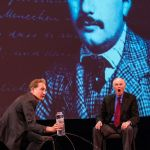 Brian Greene and Alan Alda at 'Dear Albert'