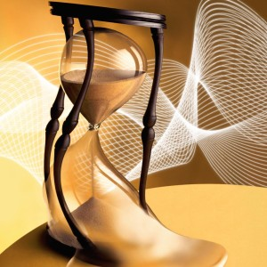Hourglass melting, (digital enhancement)